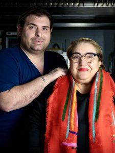 Alessio Sassi del ristorante Giuliano con sua madre