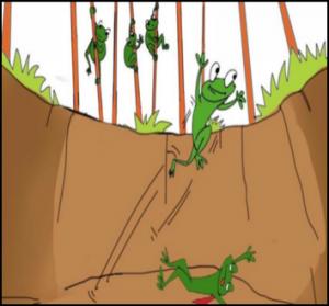 La favola delle due rane nel pozzo