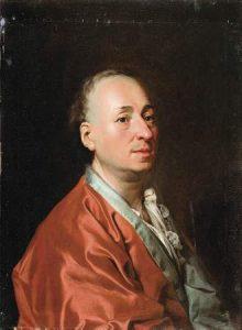 Denis Diderot con la sua vestaglia di seta rossa