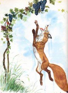La favola di Fedro della volpe e l'uva