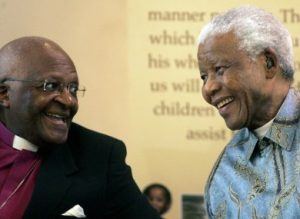 Desmond Tutu e Nelson Mandela