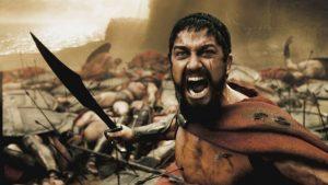 Gerard Butler nel ruolo di Re Leonida I nel film 300